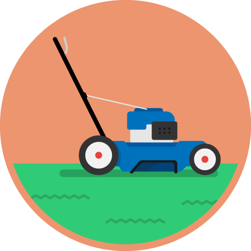 Dot Pixel - We Compete - Illustration - Lawnmower