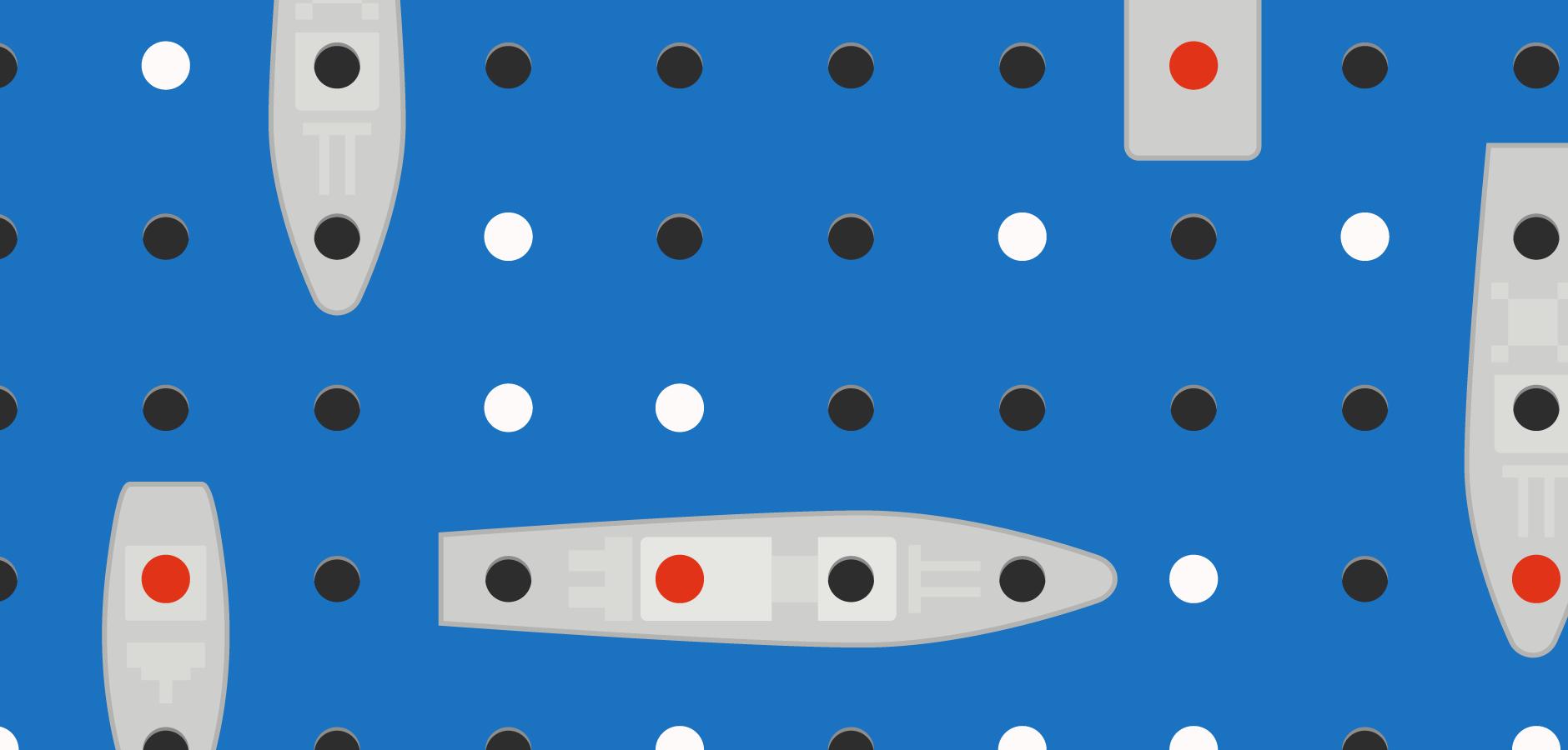 Dot Pixel - Illustration - Battleship