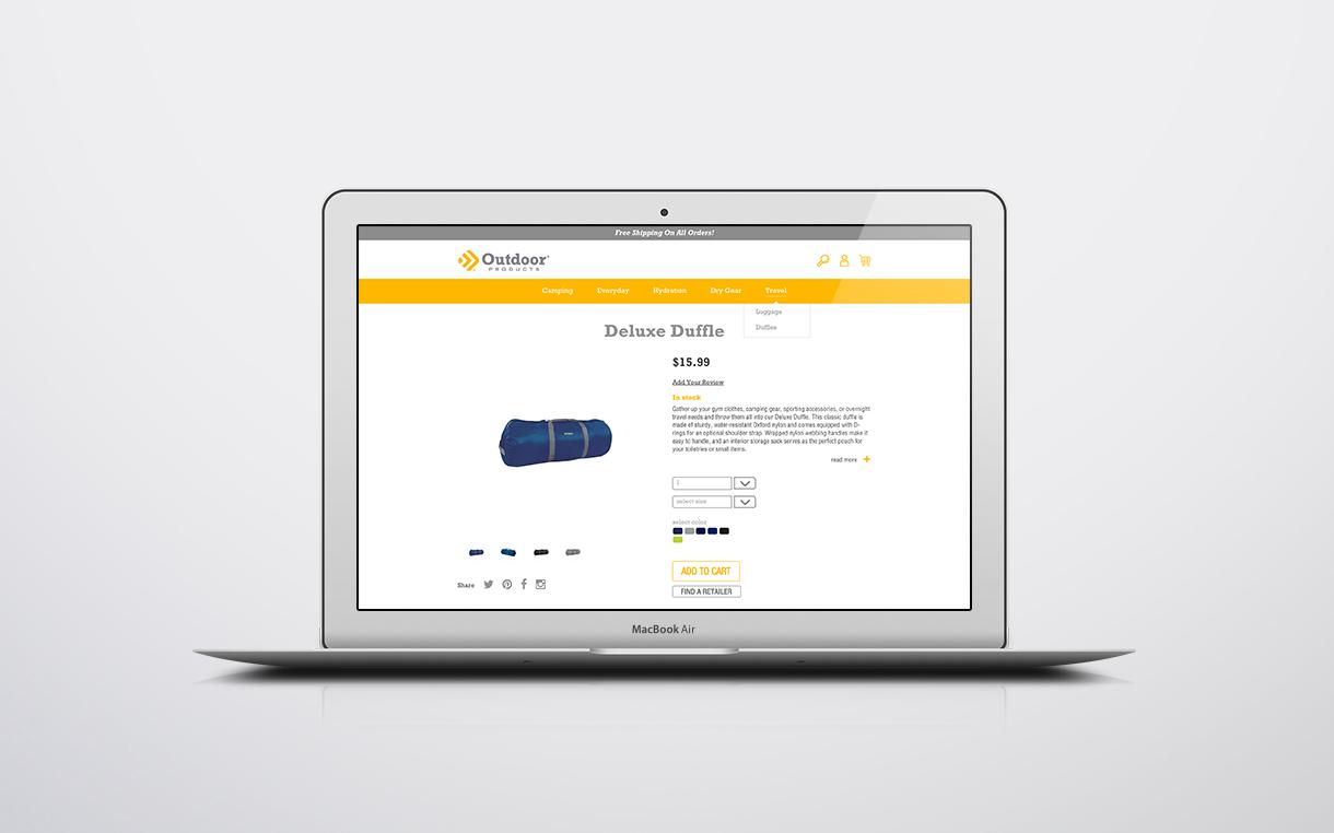 Dot Pixel - Outdoor Products - Website E-commerce Design