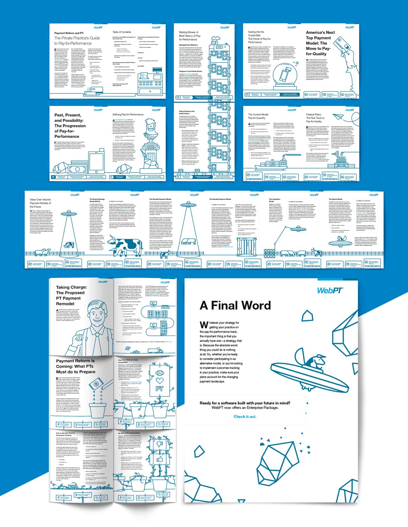 Dot Pixel - WebPT - Payment Reform and PT - Sales/Marketing Collateral Design