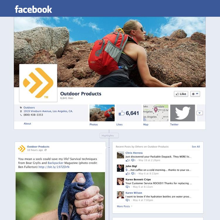 Dot Pixel - Outdoor Products - Social Media - Facebook