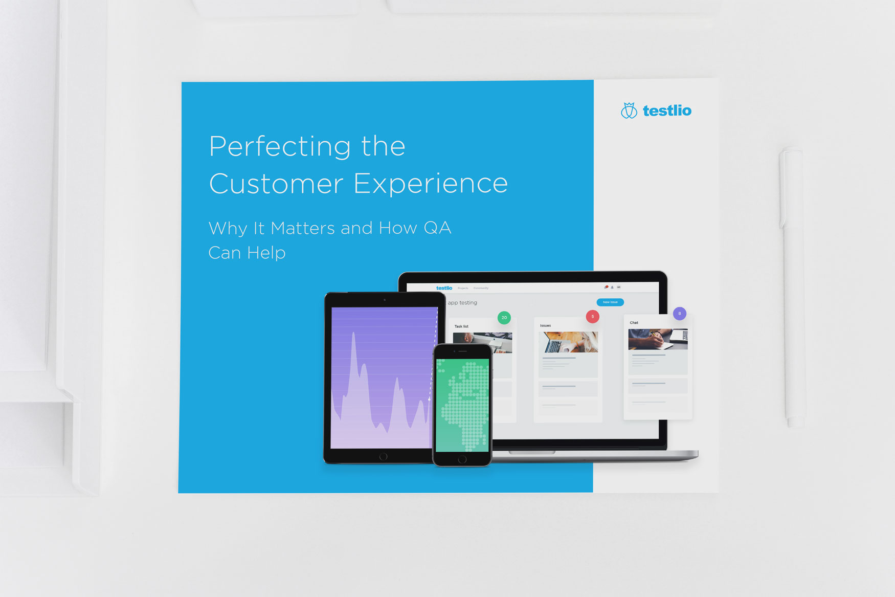 Dot Pixel - Testlio - Perfecting the Customer Experience eBook - Sales/Marketing Collateral Design