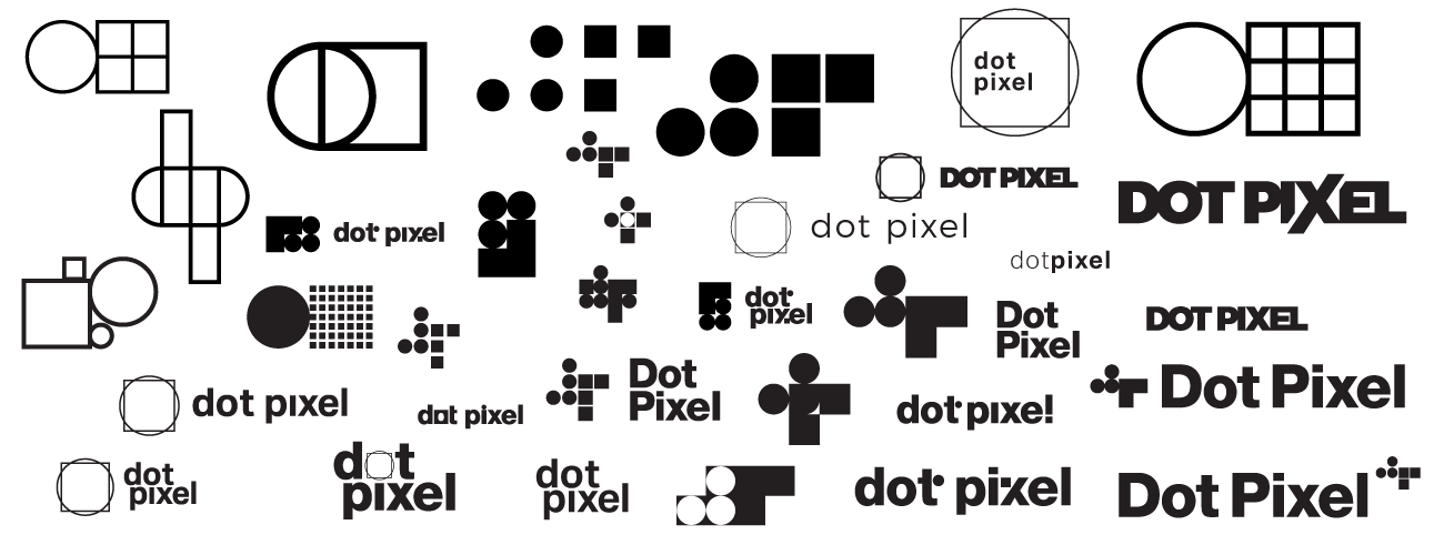 Dot Pixel Design, Illustrator Logos Artboard