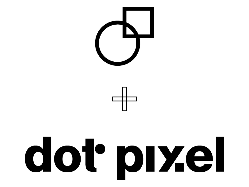 Dot Pixel Design Logo plus Logomark Combination